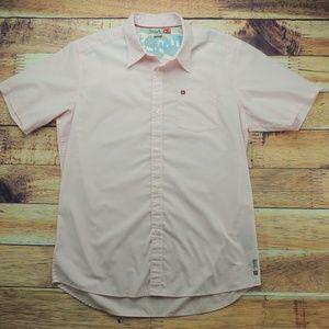 Quiksilver Light Pink Button Down Shirt